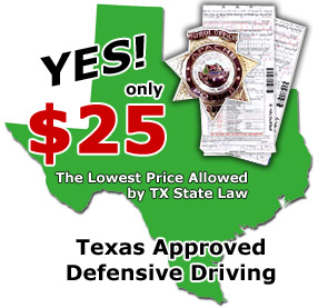 Texas Defensive Driving courses for the lowest price!